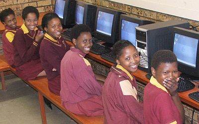 Africa charity project smiling computers