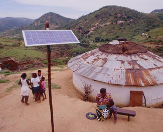 Africa charity solar panels 2